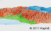 Political Panoramic Map of Dulce Nombre