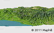 Satellite Panoramic Map of Dulce Nombre