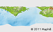 "Physical Panoramic Map of the area around 9° 36' 8"" N, 84° 55' 30"" W"
