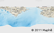 "Shaded Relief Panoramic Map of the area around 9° 36' 8"" N, 84° 55' 30"" W"
