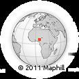 Outline Map of Atuku, rectangular outline