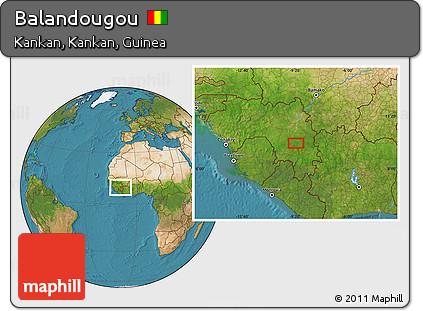 Free Satellite Location Map of Balandougou