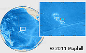"Shaded Relief Location Map of the area around 9° 15' 16"" S, 138° 28' 29"" W"