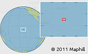"Savanna Style Location Map of the area around 9°15'16""S,139°19'29""W"