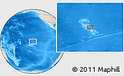 "Shaded Relief Location Map of the area around 9° 15' 16"" S, 139° 19' 29"" W"
