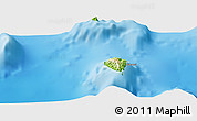 Physical Panoramic Map of Hakamui