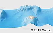 Shaded Relief Panoramic Map of Hakamui