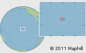 "Savanna Style Location Map of the area around 9°15'16""S,141°1'30""W"