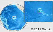 """Shaded Relief Location Map of the area around 9°15'16""""S,141°1'30""""W"""
