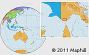 Political Location Map of Boigu