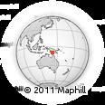 Outline Map of Boigu, rectangular outline