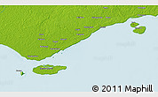 """Physical 3D Map of the area around 9°15'16""""S,142°52'30""""E"""