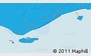 Political 3D Map of Daru