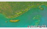 Satellite 3D Map of Daru