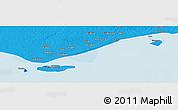 Political Panoramic Map of Daru