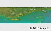 Satellite Panoramic Map of Daru