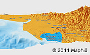 Political Panoramic Map of Port Moresby