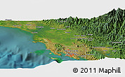 Satellite Panoramic Map of Port Moresby
