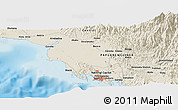 Shaded Relief Panoramic Map of Port Moresby