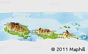 Physical Panoramic Map of Naieta