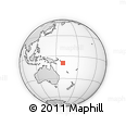 Outline Map of Solomon Islands, rectangular outline