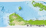 """Physical 3D Map of the area around 9°15'16""""S,159°52'30""""E"""