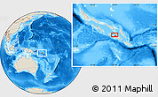 """Shaded Relief Location Map of the area around 9°15'16""""S,159°52'30""""E"""