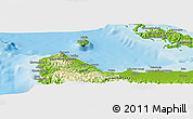 """Physical Panoramic Map of the area around 9°15'16""""S,159°52'30""""E"""