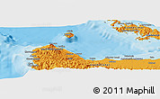 """Political Panoramic Map of the area around 9°15'16""""S,159°52'30""""E"""