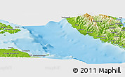 """Physical Panoramic Map of the area around 9°15'16""""S,160°43'29""""E"""