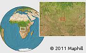 Satellite Location Map of Bige