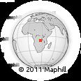 Outline Map of Katanga, rectangular outline