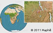 Satellite Location Map of Nchelenge