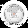 Outline Map of Nchelenge, rectangular outline