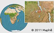 Satellite Location Map of Mporokoso