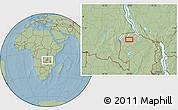 Savanna Style Location Map of Mporokoso, hill shading