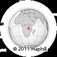 Outline Map of Mporokoso, rectangular outline