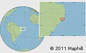 "Savanna Style Location Map of the area around 9°15'16""S,35°37'30""W"
