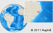 """Shaded Relief Location Map of the area around 9°15'16""""S,35°37'30""""W"""