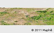 Satellite Panoramic Map of Águas Belas