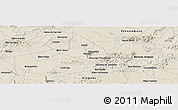 Shaded Relief Panoramic Map of Caribas