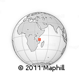 "Outline Map of the Area around 9° 15' 16"" S, 40° 1' 29"" E, rectangular outline"