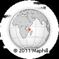 "Outline Map of the Area around 9° 15' 16"" S, 41° 43' 30"" E, rectangular outline"