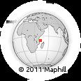 "Outline Map of the Area around 9° 15' 16"" S, 42° 34' 30"" E, rectangular outline"