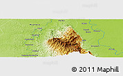 """Physical Panoramic Map of the area around 9°15'16""""S,74°43'29""""W"""