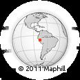 Outline Map of Huacaybamba, rectangular outline