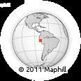 Outline Map of Cerro Sechin, rectangular outline