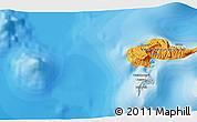 Political 3D Map of Hana Teio