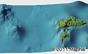 Satellite 3D Map of Hana Teio