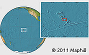 Satellite Location Map of Hana Teio